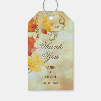 Autumn Leaves Watercolor AWLa Gift Tags