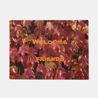 Autumn leaves Welcome friends door mat