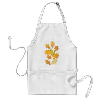 'Autumn Leaves' White Apron