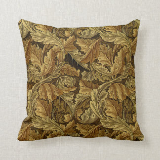 Autumn leaves William Morris pattern Cushion