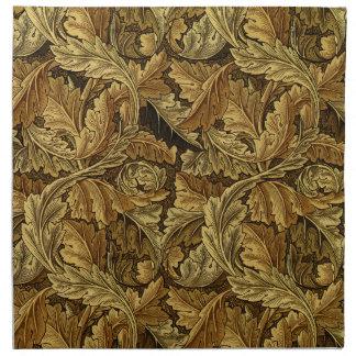 Autumn leaves William Morris pattern Napkin