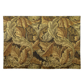 Autumn leaves William Morris pattern Placemat