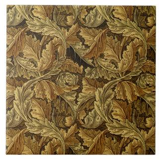 Autumn leaves William Morris pattern Tile