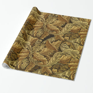 Autumn leaves William Morris vintage pattern Wrapping Paper