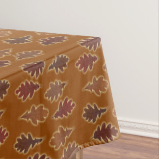Autumn Leaves with Glow on Custom Color Tablecloth