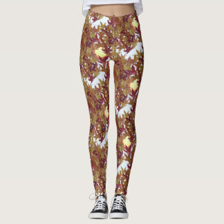 Autumn Leaves with Sun Legging
