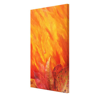 """""""Autumn Leaves"""" Wrapped Canvas Stretched Canvas Print"""