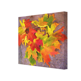 Autumn Leaves ~  Wrapped Canvas Print