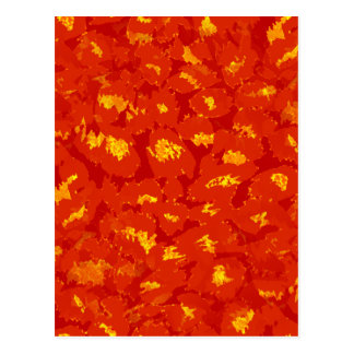 Autumn Leopard Print Postcard