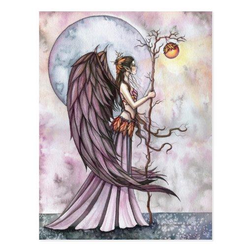 Autumn Light Fairy Postcard by Molly Harrison