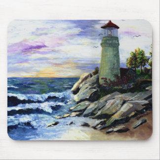 autumn lighthouse mouse pad