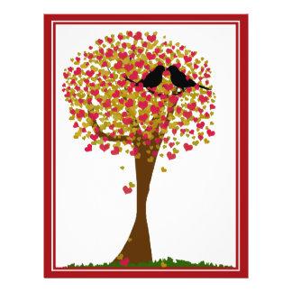 Autumn Love Birds Custom Flyer