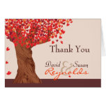 Autumn Love Romantic Oak Tree Thank You Note Cards