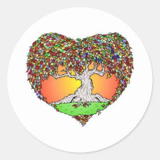 Autumn Love Round Stickers