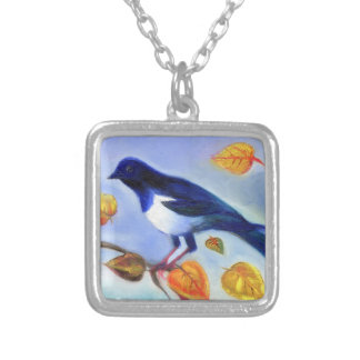 Autumn Magpie 2012 Silver Plated Necklace
