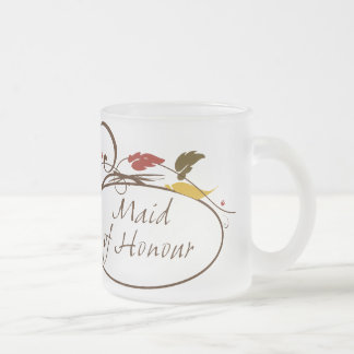 Autumn Maid of Honour Frosted Glass Mug