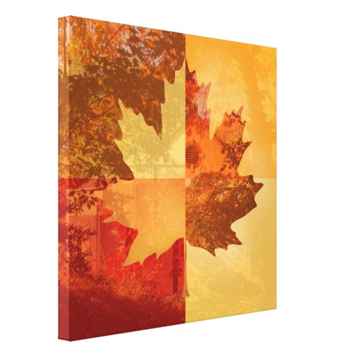 Autumn, Maple Leaf Gallery Wrap Canvas
