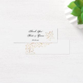 Autumn Maple Leaf Edge Wedding Favor Tags Mini Business Card