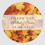 Autumn Maple Leaf Fall Wedding Favour Stickers