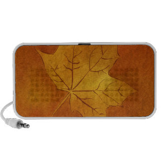 Autumn Maple Leaf in Gold Travelling Speaker