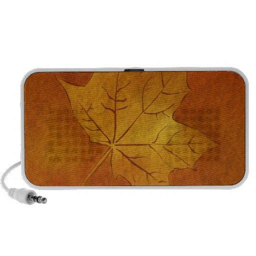 Autumn Maple Leaf in Gold Travelling Speaker