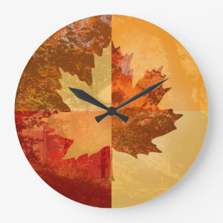Autumn, Maple Leaf Large Clock