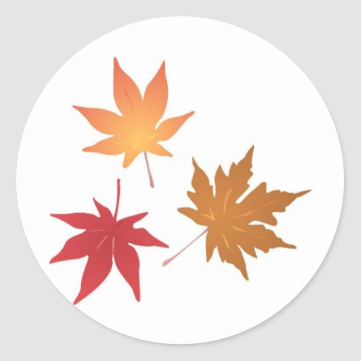 Autumn Maple Leaves Collection Sticker