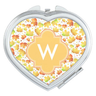 Autumn Maple leaves Compact Mirrors