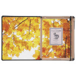 autumn maple leaves design ipad case