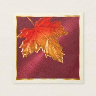 Autumn Maple Leaves Disposable Napkin