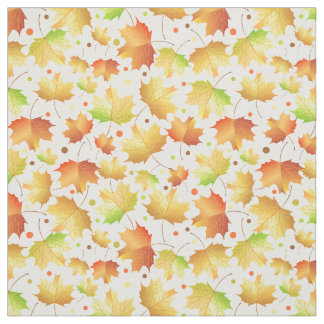 Autumn Maple leaves Fabric