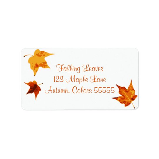 Autumn Maple Leaves Fall Address Label