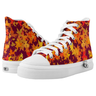 Autumn Maple Leaves High Tops
