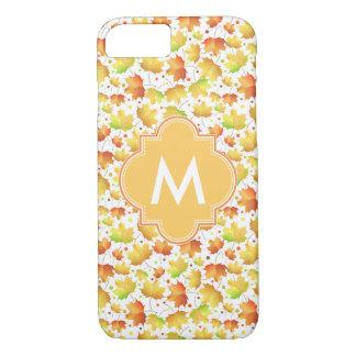 Autumn Maple leaves iPhone 7 Case