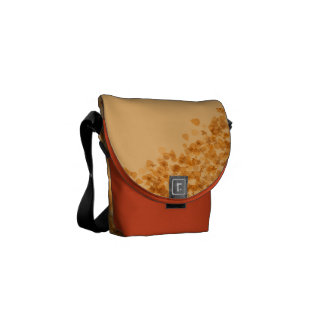 Autumn Maple Leaves Messenger Bags