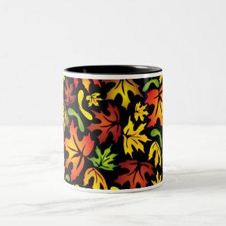 autumn maple leaves mug