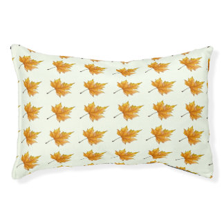 Autumn Maple Leaves Pet Bed