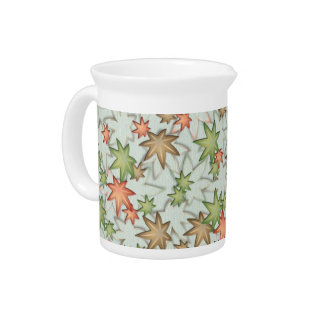 Autumn maple leaves pitcher