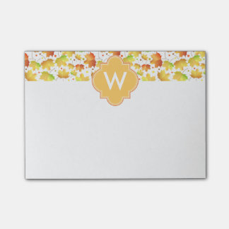 Autumn Maple leaves Post-it Notes