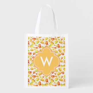 Autumn Maple leaves Reusable Grocery Bag