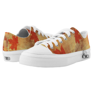 Autumn maple tree leaf fall shoes
