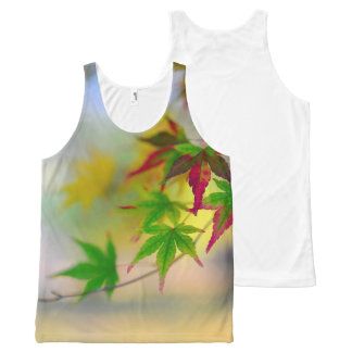 autumn maple tree leaf nature abstract detail back All-Over print tank top