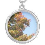 Autumn Maple Tree Personalised Necklace