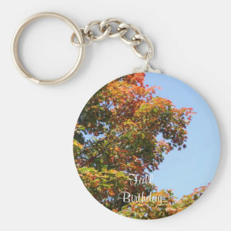 Autumn Maple Trees Key Ring