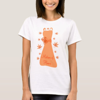 Autumn Matron of Honor T-Shirt