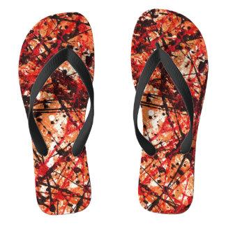 AUTUMN MIX (an abstract art design) ~ Flip Flops
