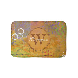 Autumn Monogram Bathmat