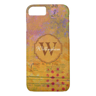 Autumn Monogram iPhone Case