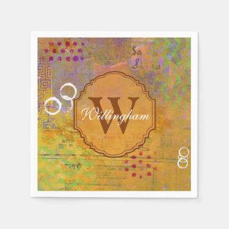 Autumn Monogram Napkin Disposable Napkins