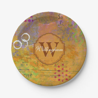Autumn Monogram Plate